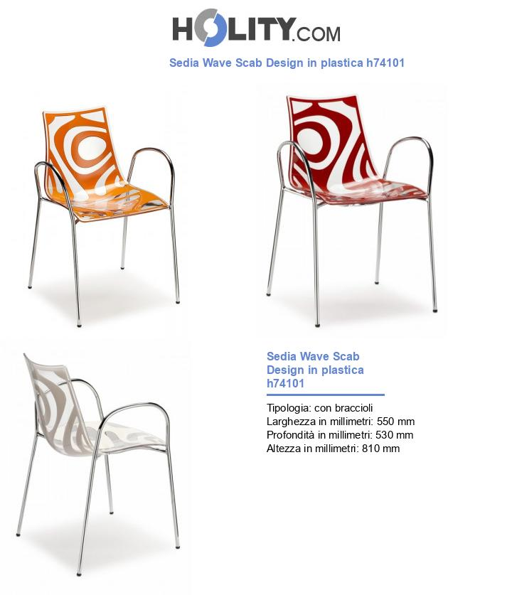 Sedia Wave Scab Design in plastica h74101