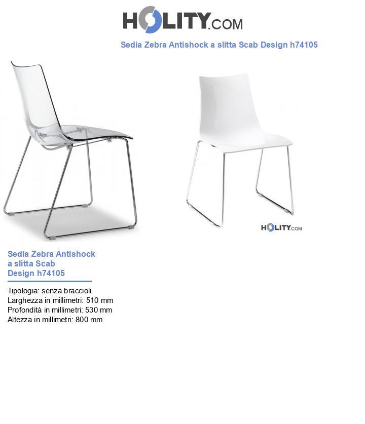 Sedia Zebra Antishock a slitta Scab Design h74105