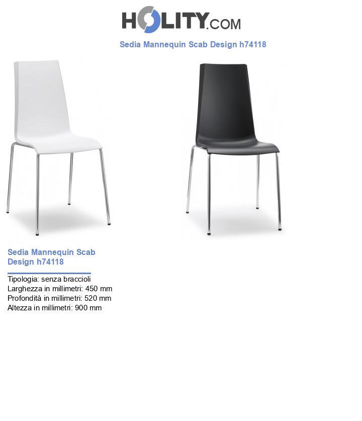 Sedia Mannequin Scab Design h74118