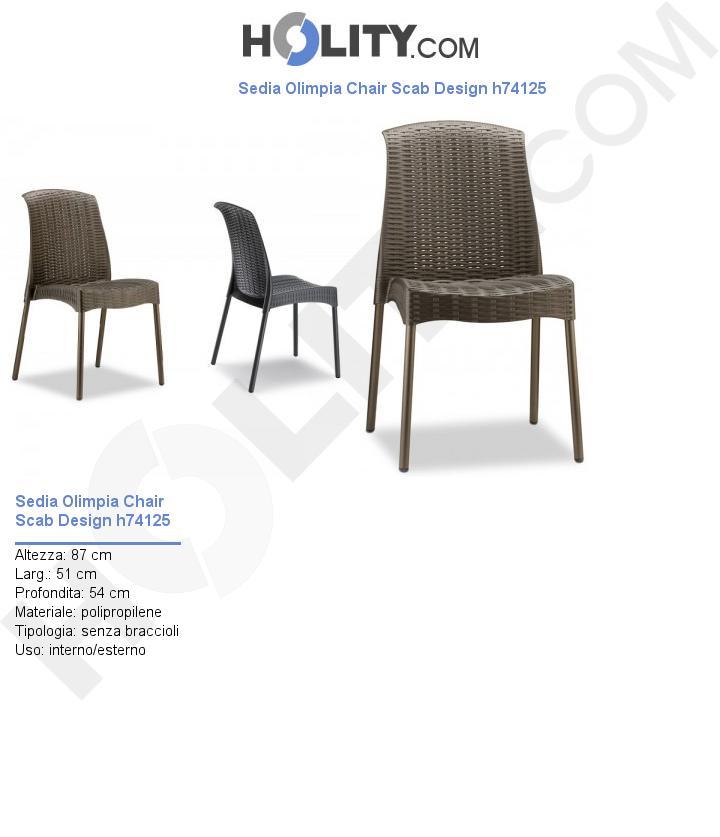 Sedia Olimpia Chair Scab Design h74125