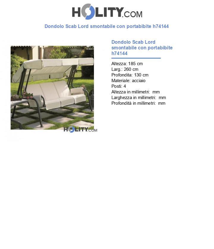 Dondolo Scab Lord smontabile con portabibite h74144