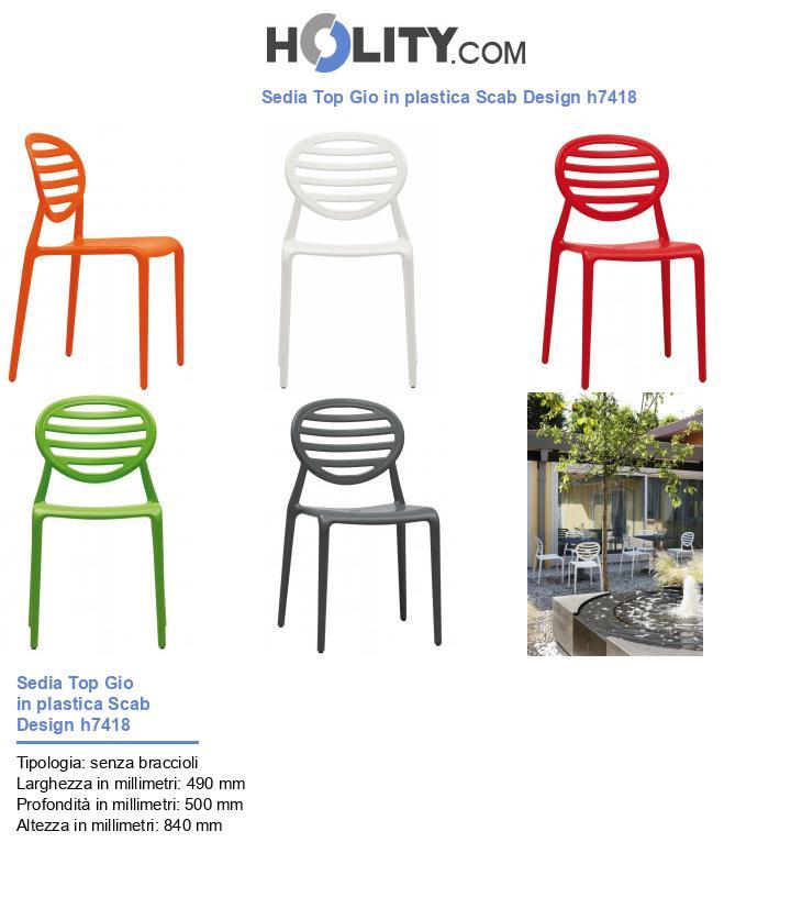 Sedia Top Gio in plastica Scab Design h7418