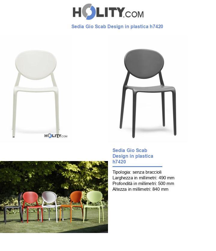 Sedia Gio Scab Design in plastica h7420