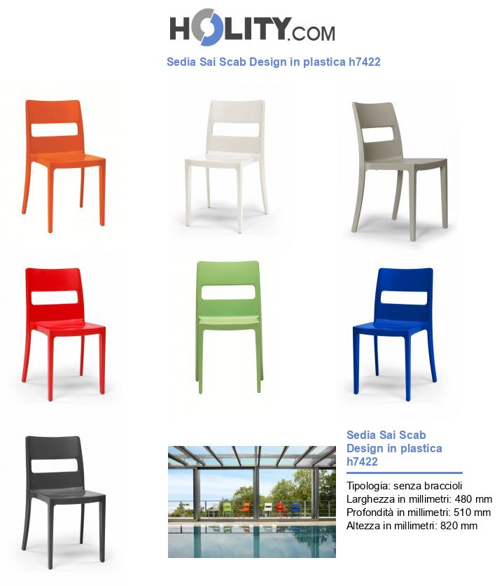 Sedia Sai Scab Design in plastica h7422