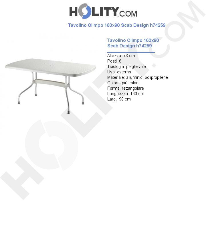 Tavolino Olimpo 160x90 Scab Design h74259