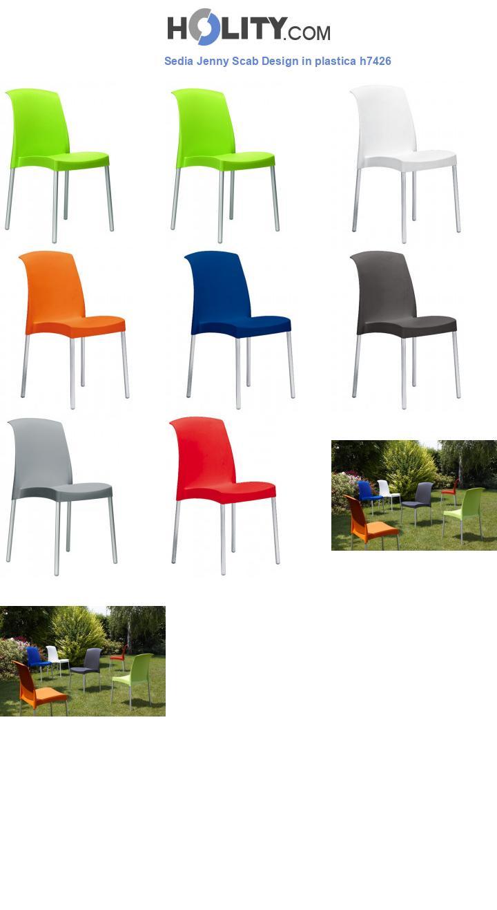 Sedia Jenny Scab Design in plastica h7426