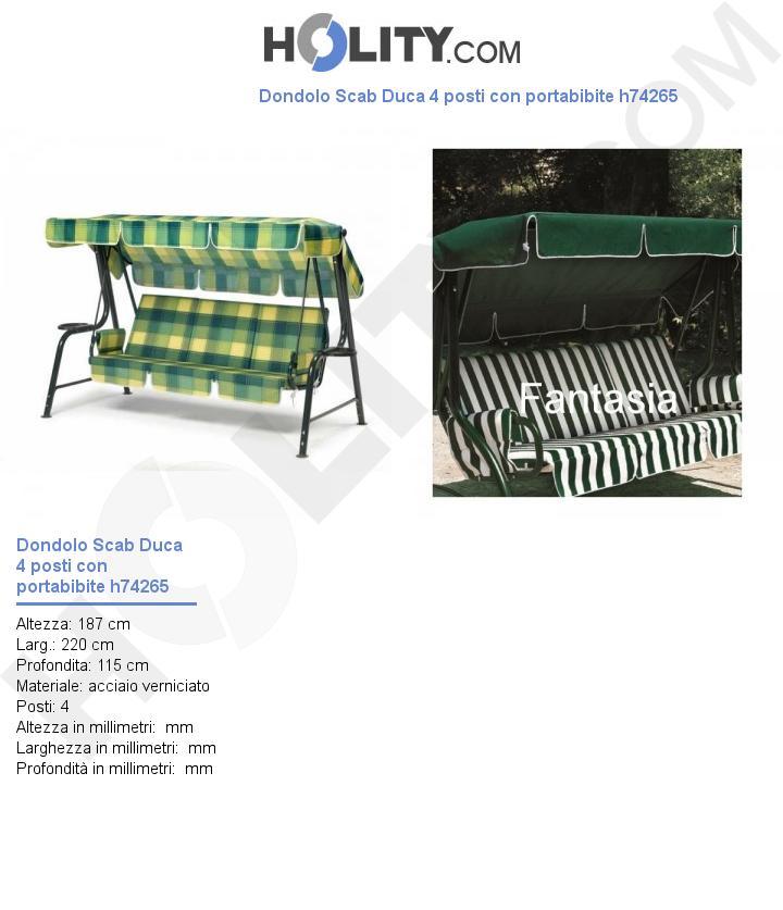 Dondolo Scab Duca 4 posti con portabibite h74265