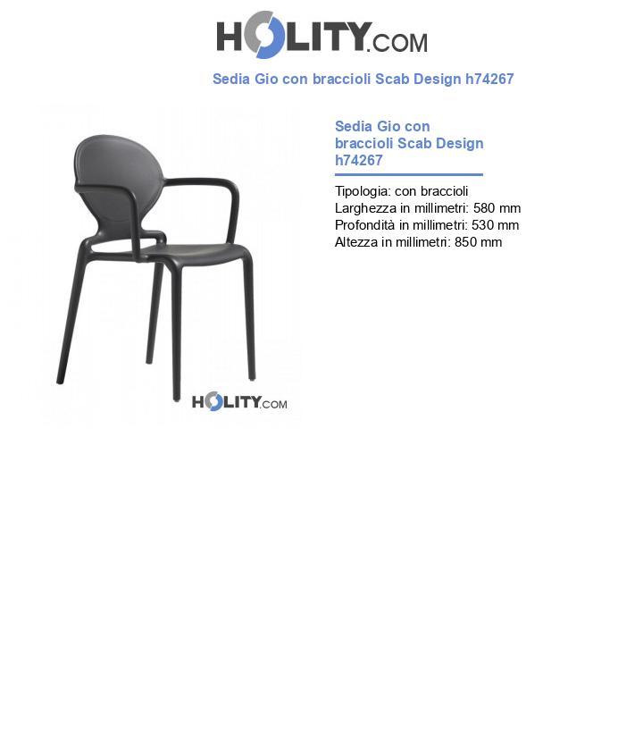 Sedia Gio con braccioli Scab Design h74267