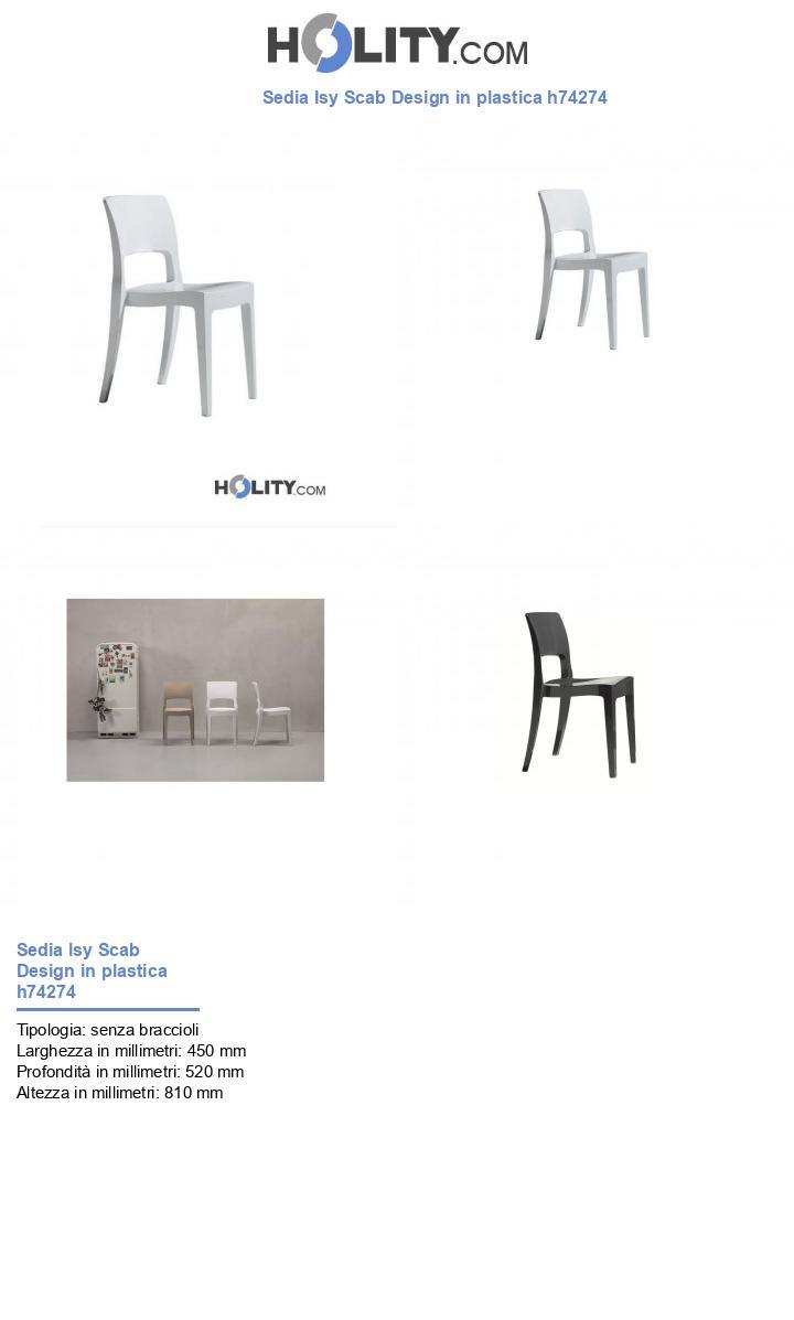 Sedia Isy Scab Design in plastica h74274