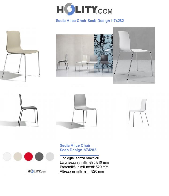 Sedia Alice Chair Scab Design h74282