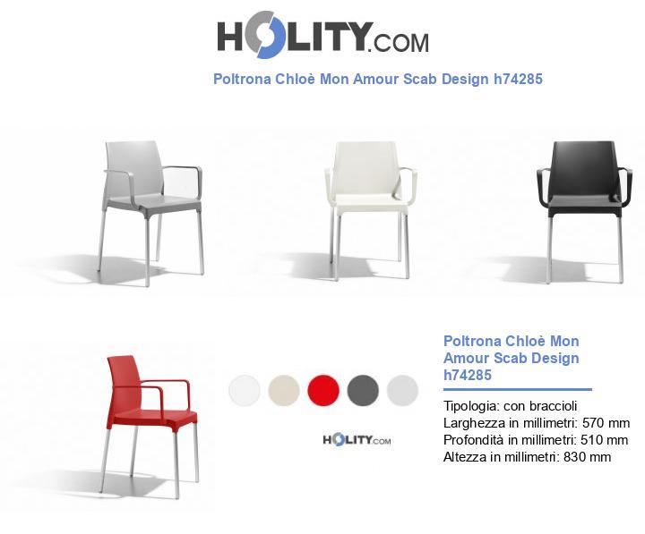 Poltrona Chloè Mon Amour Scab Design h74285