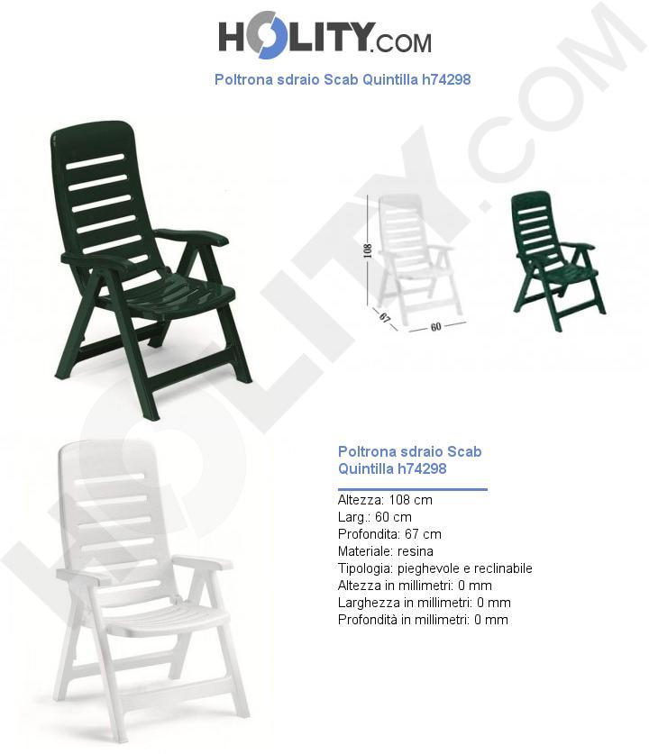 Poltrona sdraio Scab Quintilla h74298