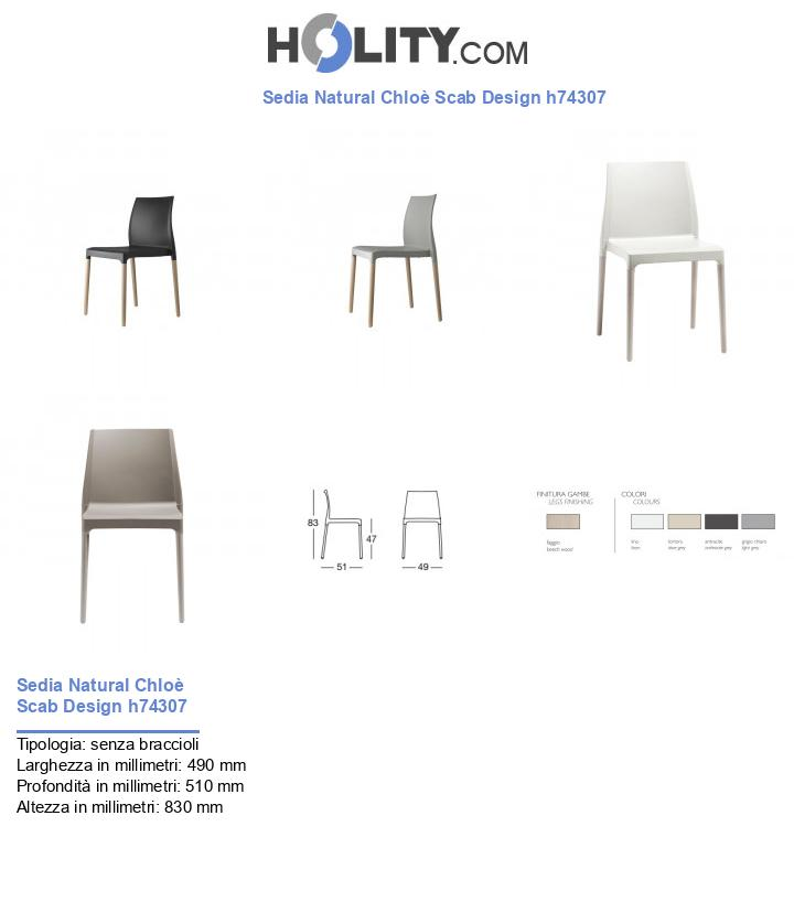 Sedia Natural Chloè Scab Design h74307