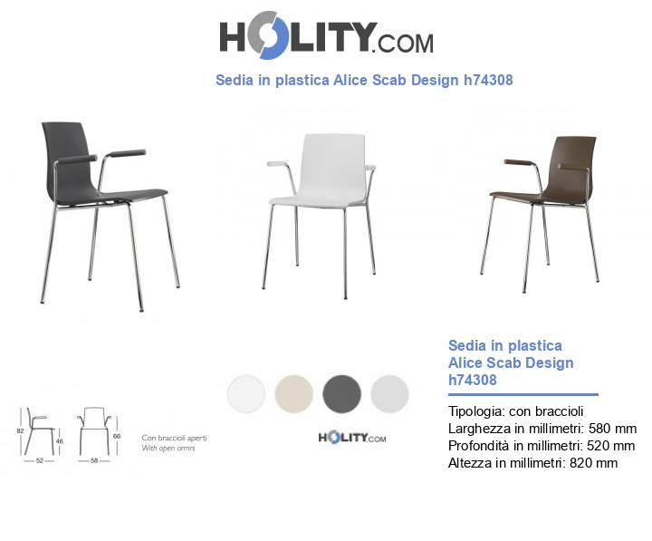 Sedia in plastica Alice Scab Design h74308