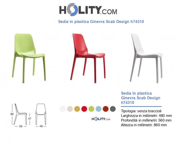 Sedia in plastica Ginevra Scab Design h74310