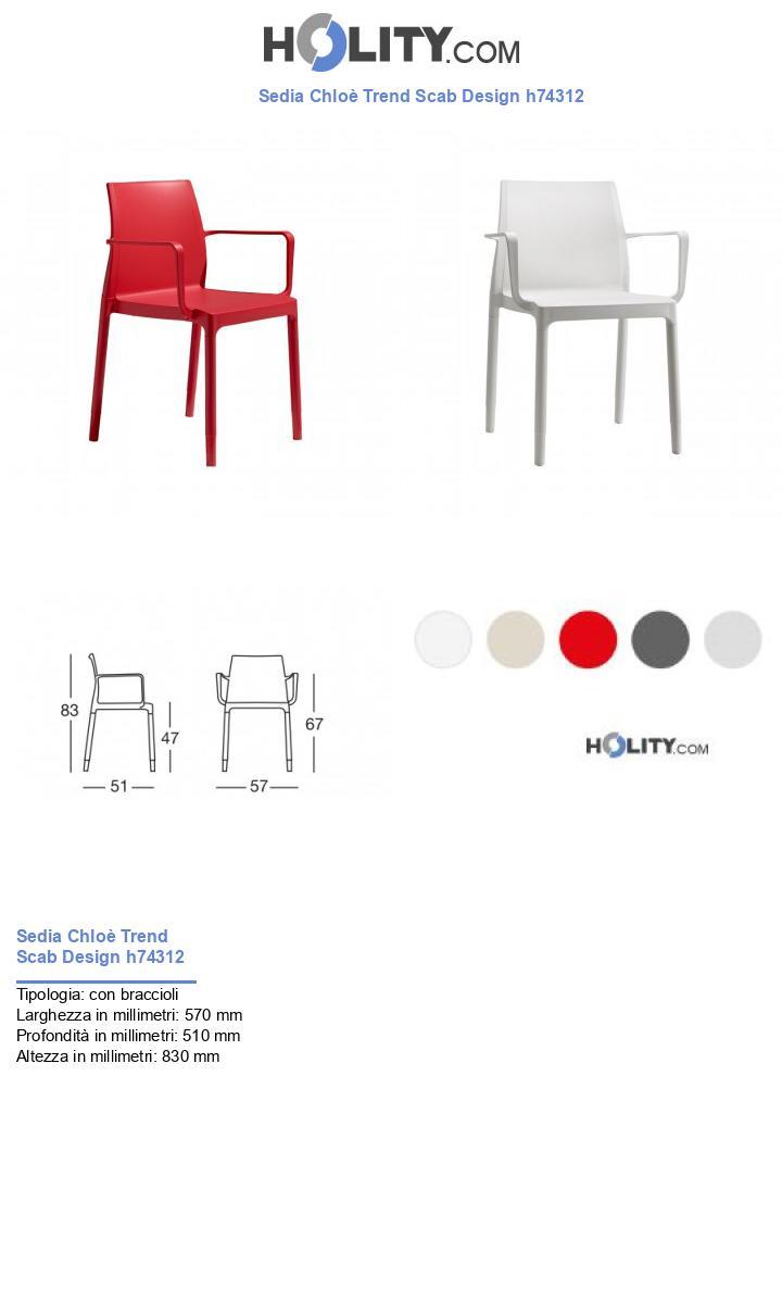 Sedia Chloè Trend Scab Design h74312
