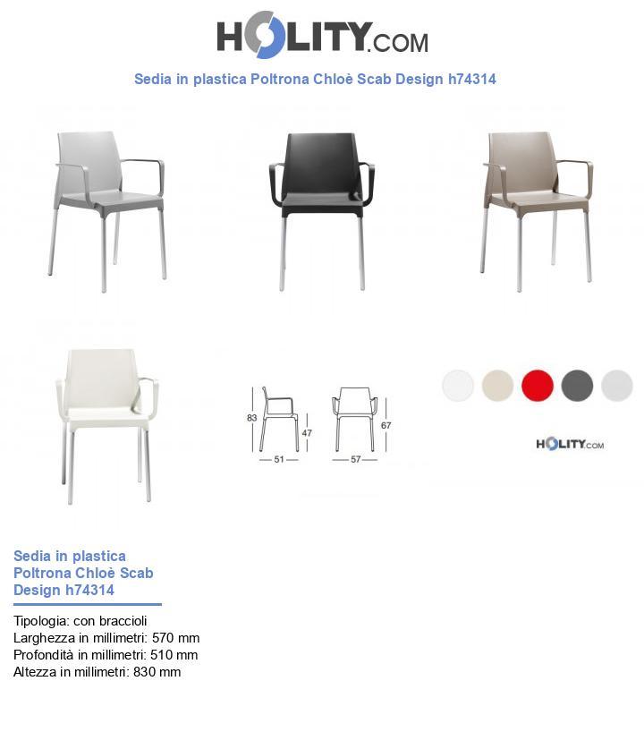 Sedia in plastica Poltrona Chloè Scab Design h74314