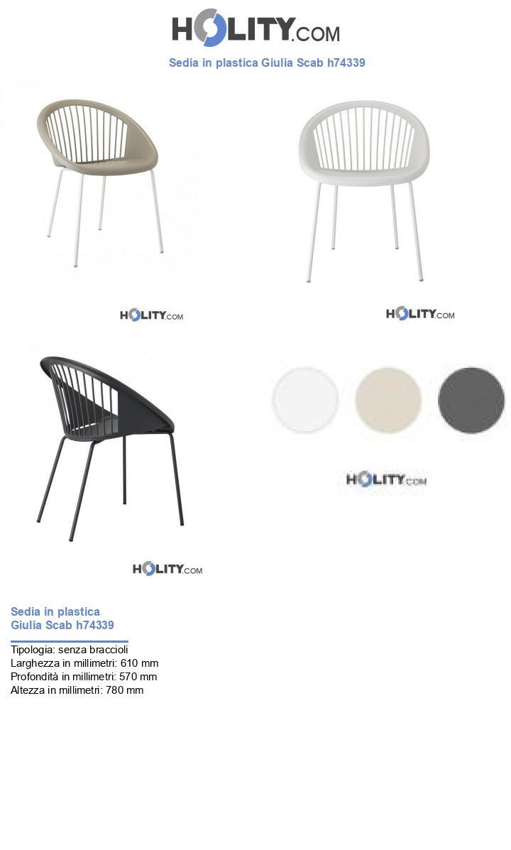 Sedia in plastica Giulia Scab h74339