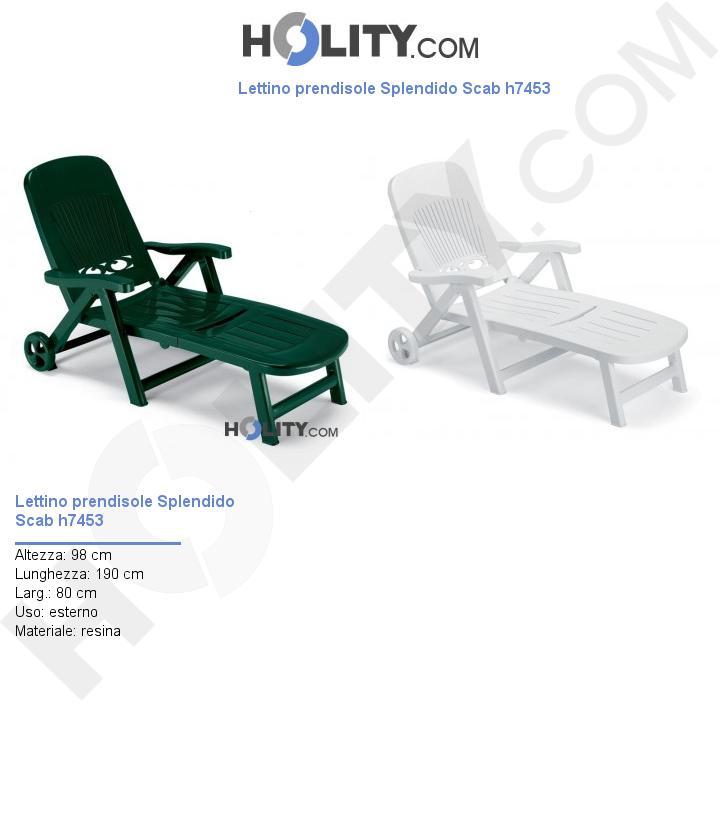 Lettino prendisole Splendido Scab h7453