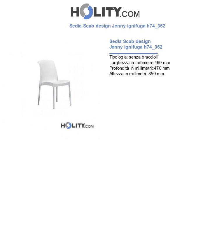 Sedia Scab design Jenny ignifuga h74_362