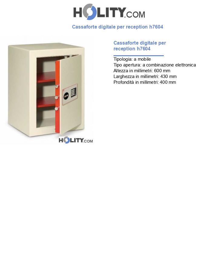 Cassaforte digitale per reception h7604