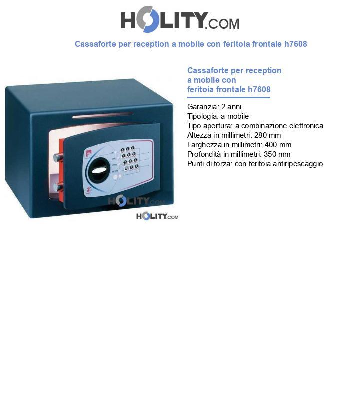 Cassaforte per reception a mobile con feritoia frontale h7608