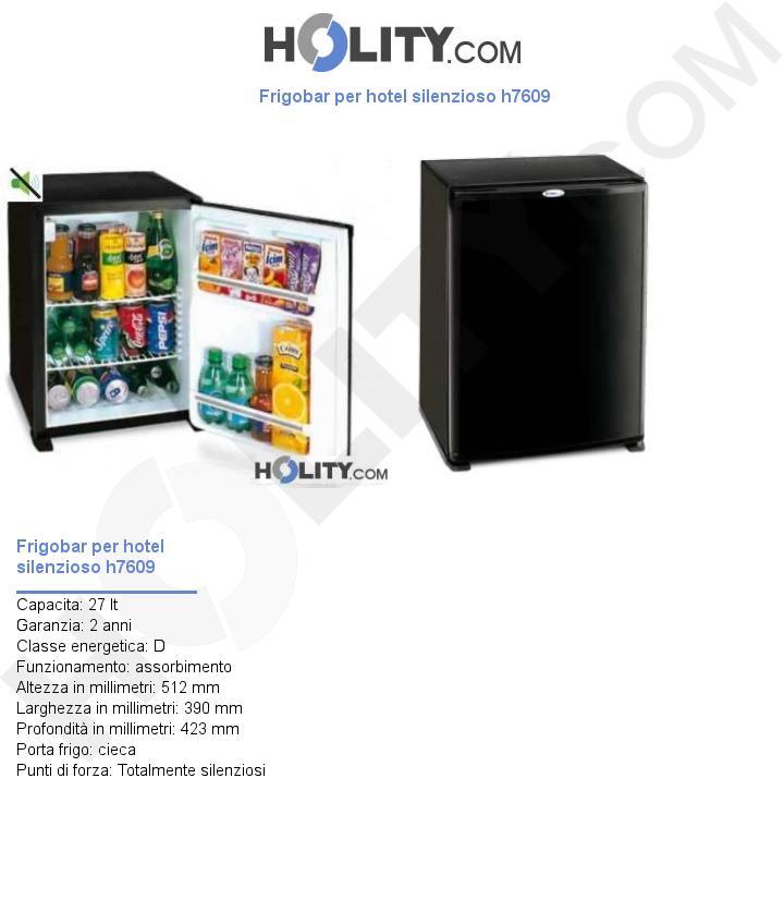 Frigobar per hotel silenzioso h7609