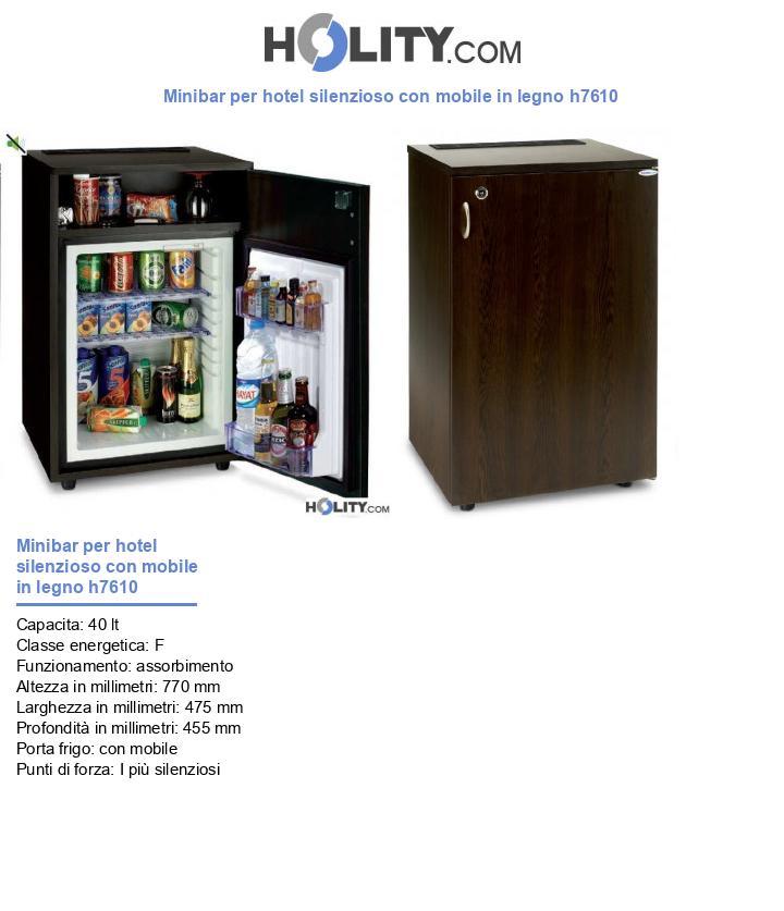 Minibar per hotel silenzioso con mobile in legno h7610