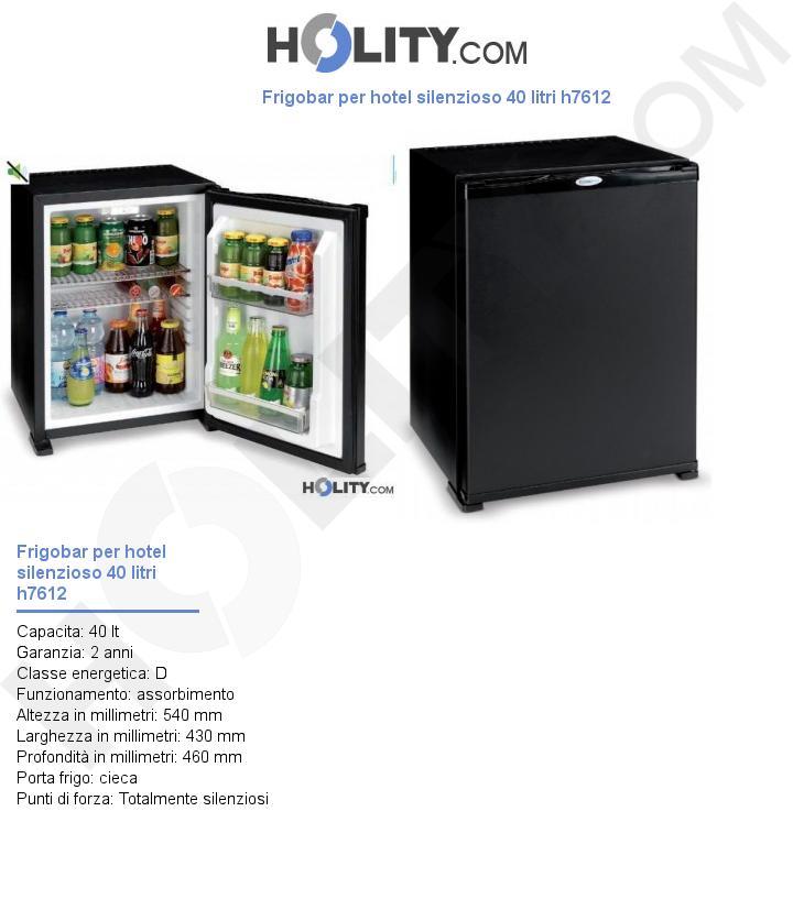 Frigobar per hotel silenzioso 40 litri h7612