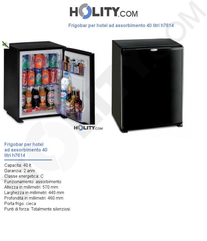 Frigobar per hotel ad assorbimento 40 litri h7614