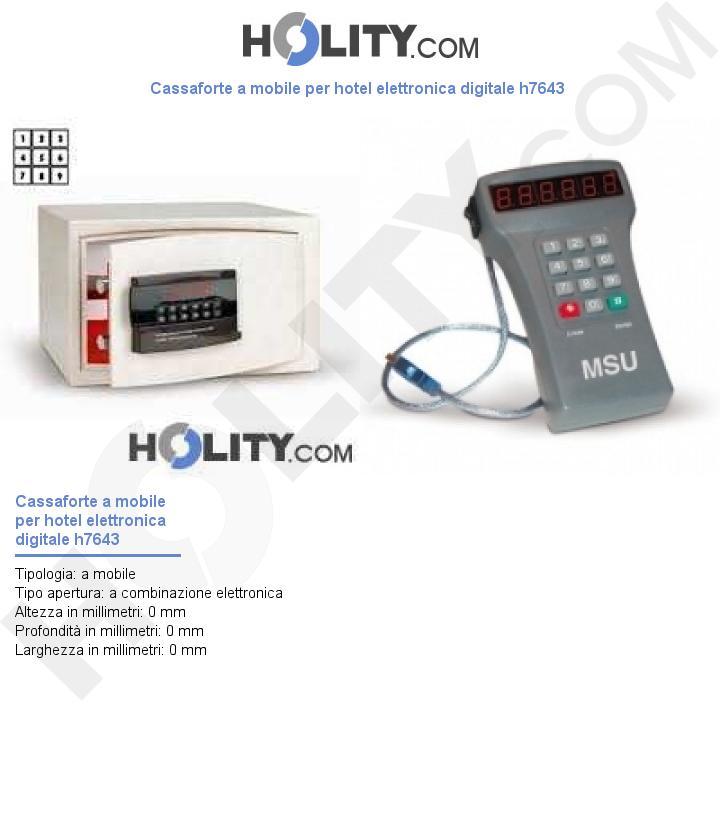 Cassaforte a mobile per hotel elettronica digitale h7643