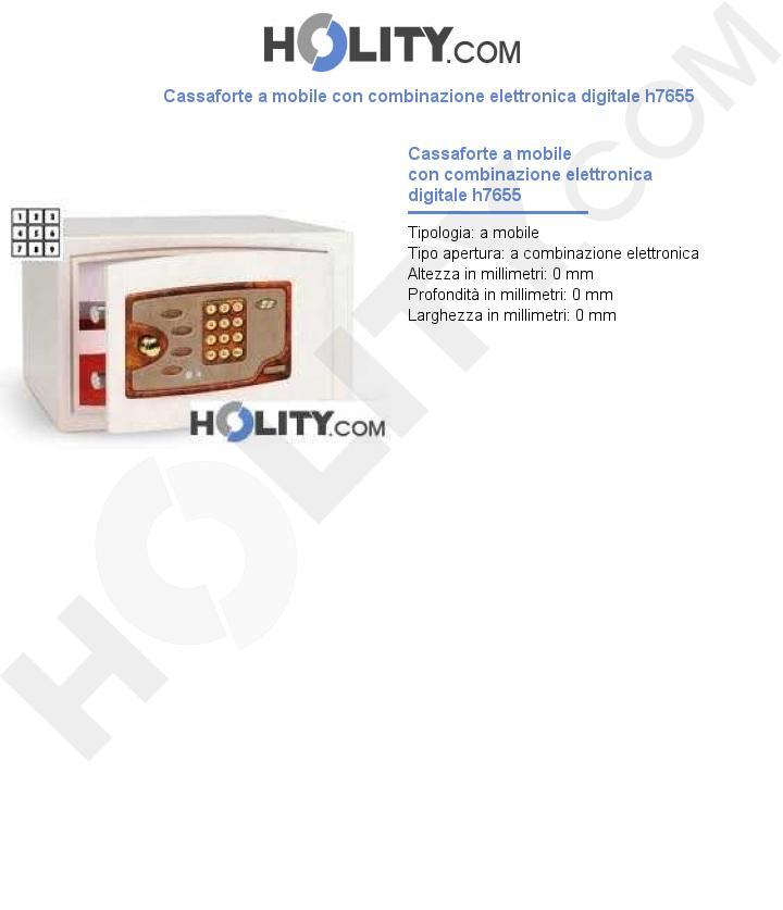 Cassaforte a mobile con combinazione elettronica digitale h7655