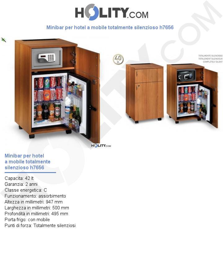 Minibar per hotel a mobile totalmente silenzioso h7656