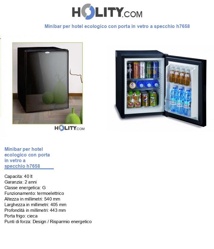 Minibar per hotel ecologico con porta in vetro a specchio h7658