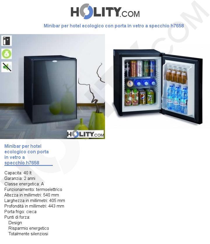 Circuito V Pay : Cerchi minibar per hotel ecologico con porta in vetro a