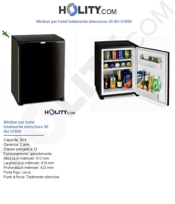 Minibar per hotel totalmente silenzioso 30 litri h7659
