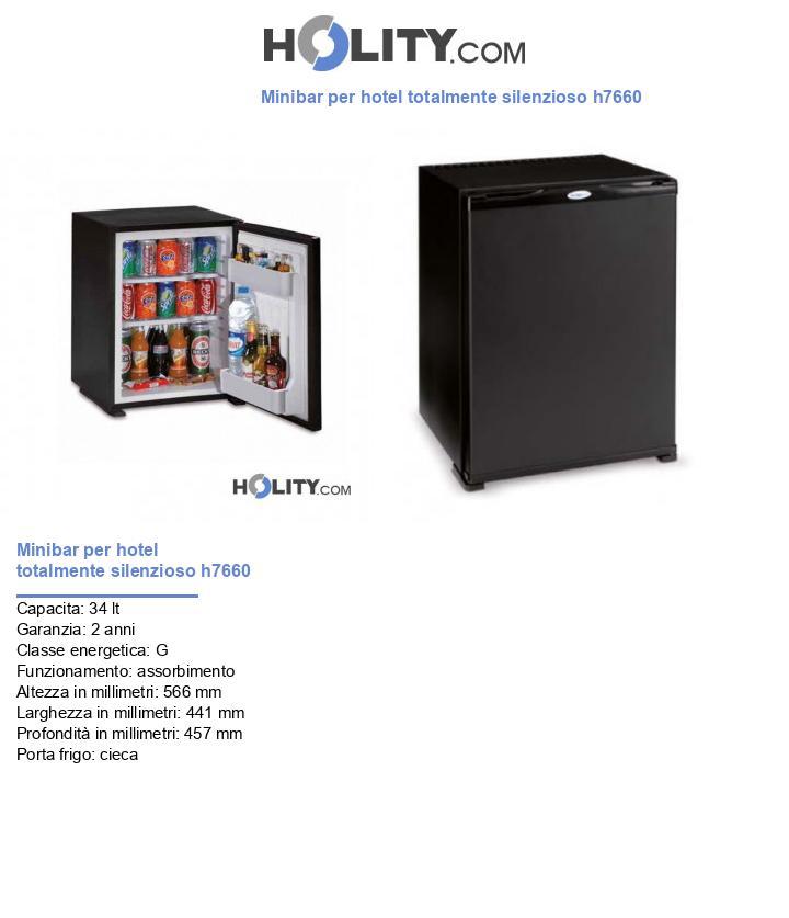 Minibar per hotel totalmente silenzioso 40 litri h7660