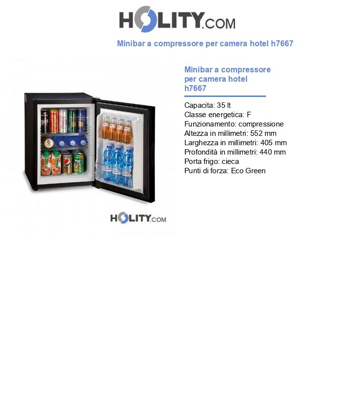 Minibar a compressore per camera hotel h7667