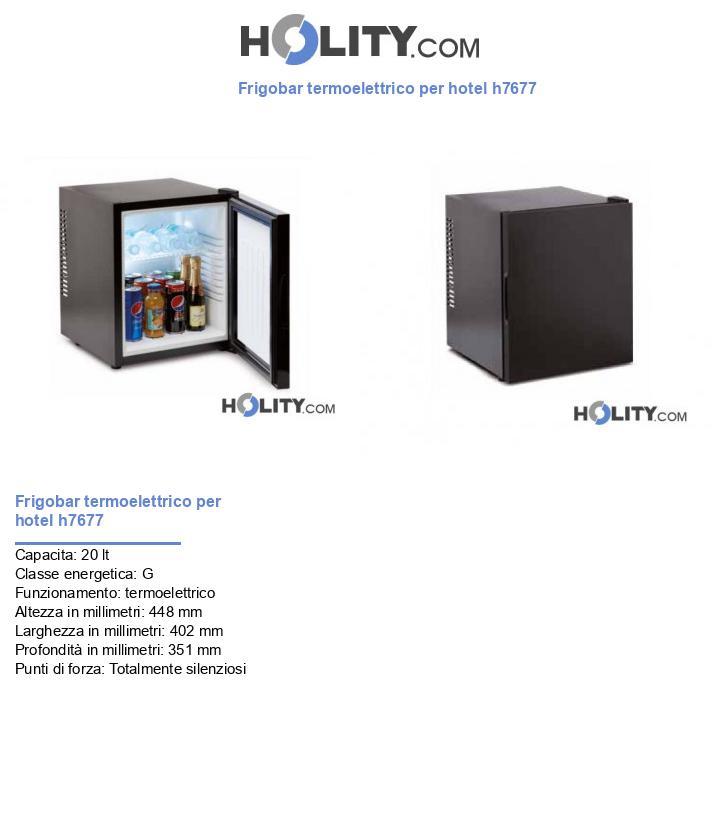 Frigobar termoelettrico per hotel h7677