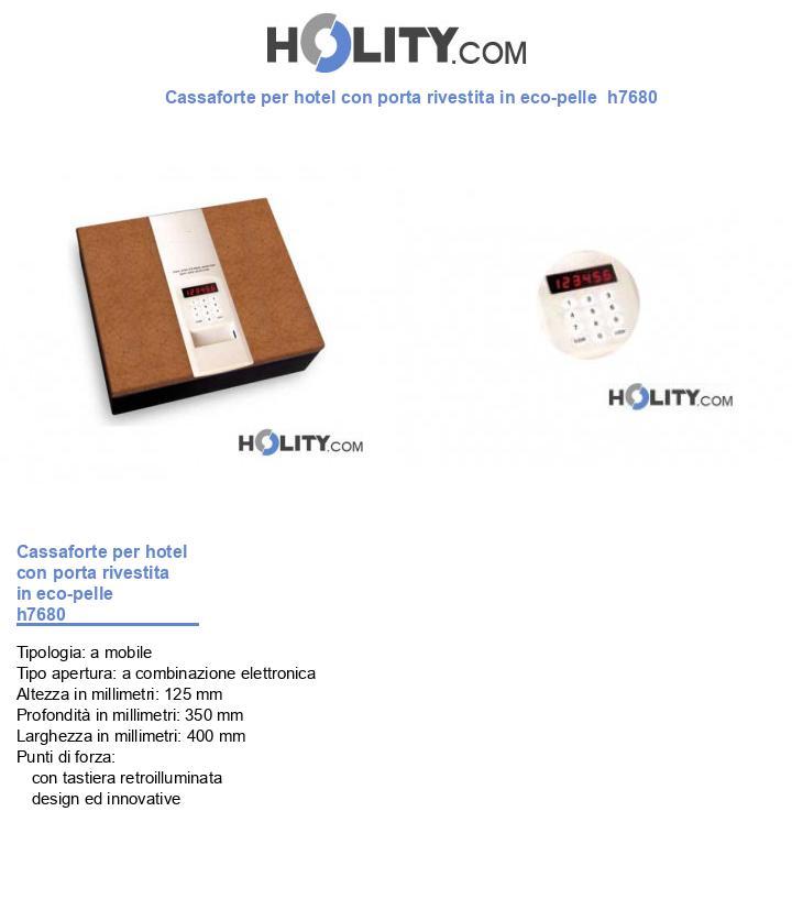 Cassaforte per hotel con porta rivestita in eco-pelle  h7680