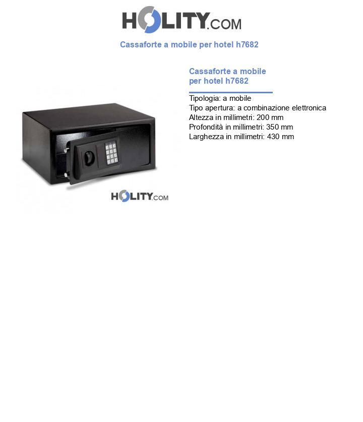Cassaforte a mobile per hotel h7682