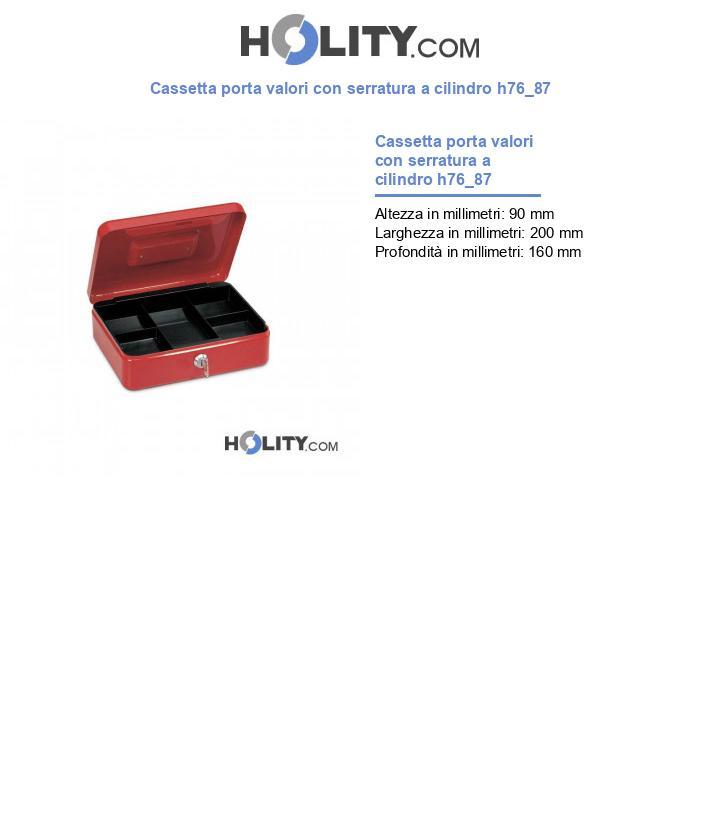 Cassetta porta valori con serratura a cilindro h76_87