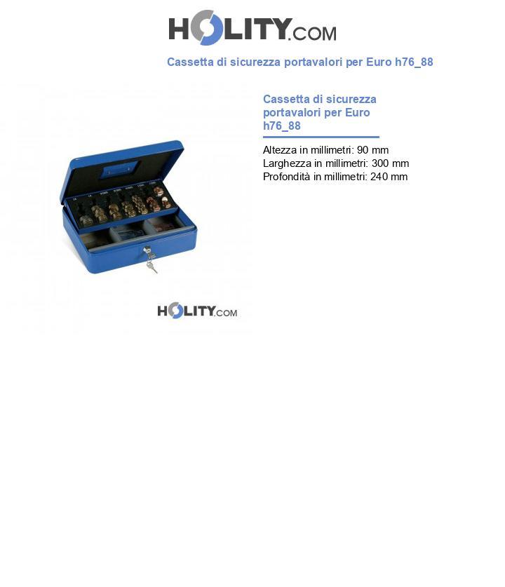 Cassetta di sicurezza portavalori per Euro h76_88