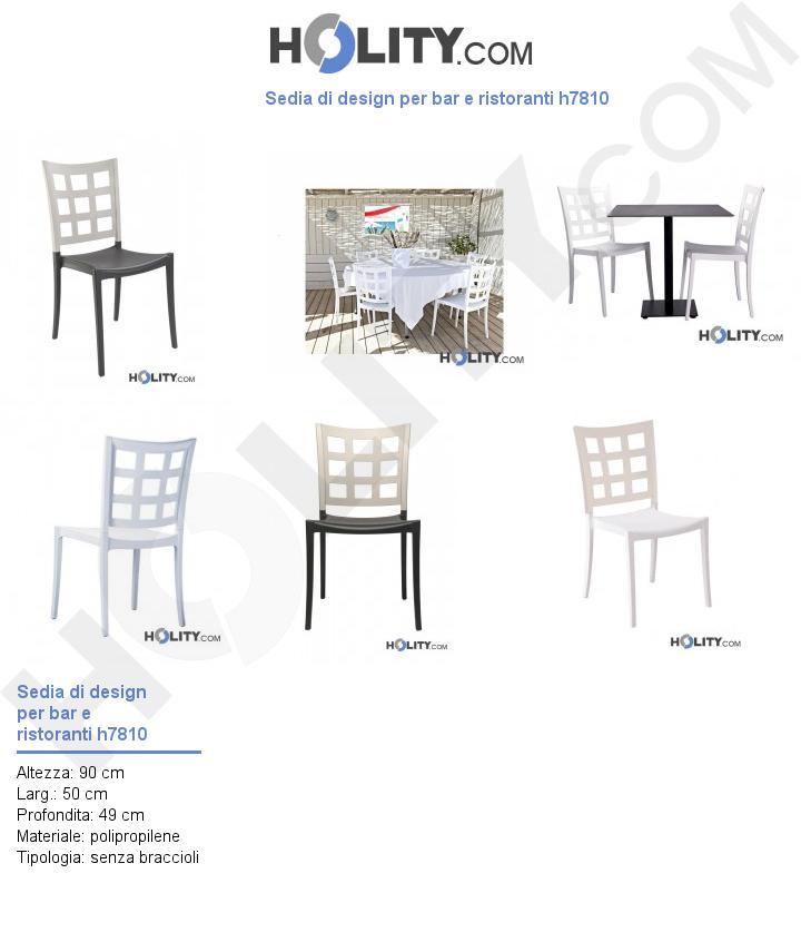 Sedia di design per bar e ristoranti Grosfillex h7810