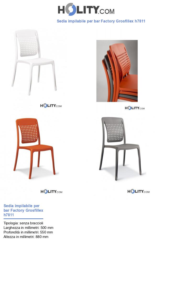 Sedia impilabile per bar Factory Grosfillex h7811