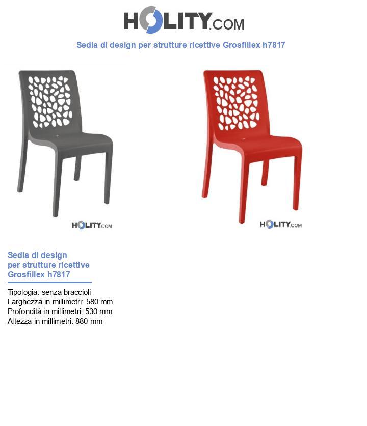 Sedia di design per strutture ricettive Grosfillex h7817