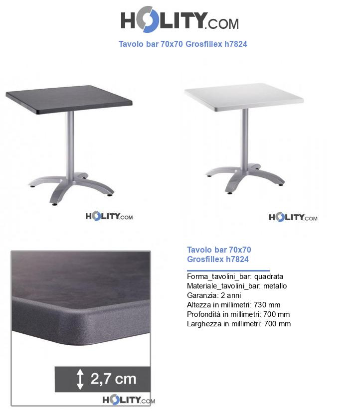 Tavolo bar 70x70 Grosfillex h7824