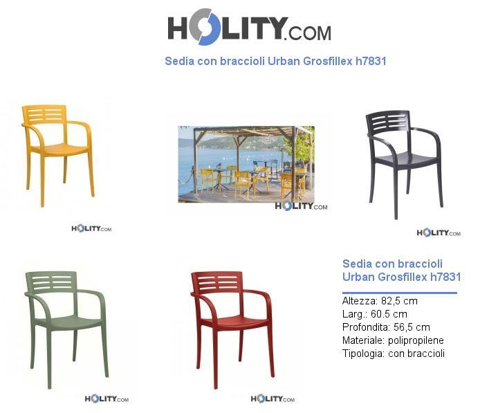 Sedia con braccioli Urban Grosfillex h7831