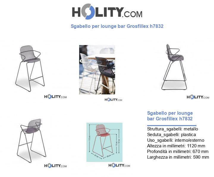 Sgabello per lounge bar Grosfillex h7832