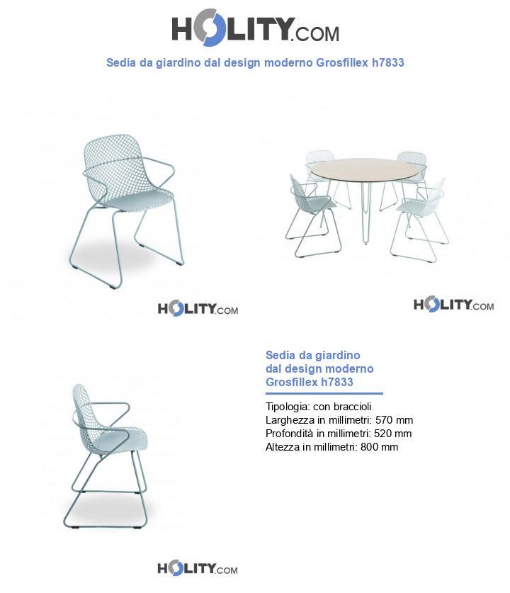 Sedia da giardino dal design moderno Grosfillex h7833